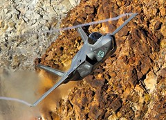Archer (Dafydd RJ Phillips) Tags: ot 001 netherlands roya air force royal f35 a f35a lightning 2 edwards afb base death valley jedi transition star wars canyon panamint california rainbow jet fighter fifth generation operational test combat aviation military dutch