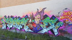 Jorz... (colourourcity) Tags: streetartaustralia streetartnow streetart graffiti melbourne burncity awesome colourourcity nofilters letters burners burner colourourcitymelbourne jorz rdc mr disney malificent