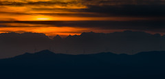 (piero_zampa) Tags: sunset landscape landscapephotography orange black silhouette clouds hills nikon tamron tuscany