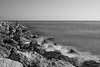 El hombre y la mar. (Jon Ortega Photography) Tags: mar sea pescando fishing blackandwhite blancoynegro bw bn barcelona castelldefels mediterraneo mediterranean catalunya