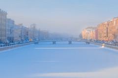 Pastel (rsvatox) Tags: saintpetersburg russia colours winter river architecture people frozenriver city fog mist weather bridge snow
