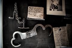 Oskar Schindler's Factory (pankazek_foto) Tags: oskar schindlers factory exhibition kraków occupation 1939–1945 exhibitionkrakówundernazioccupation1939–1945 oskarschindlersfactory wystawa fabrykaschindlera oskarschindler iiww iiwojnaświatowa okupacja fabrykaemalia oskarschindler'senamelfactory schindler handcuffs kajdanki