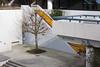 pedestrian world (Rasande Tyskar) Tags: hamburg germany city nord pedestrian walk fly over walkway escalator rolltreppe public space fusgänger übergang baum urban städtisch white weis concrete beton