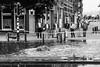 flooding (petdek) Tags: flooding film kodaktmax street people blackandwhite