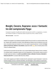 "Borghi, Cecere, Soprano- ecco i fantastici tre del campionato Fipgc - Dolcegiornale pag 1 • <a style=""font-size:0.8em;"" href=""http://www.flickr.com/photos/93901612@N06/40564990722/"" target=""_blank"">View on Flickr</a>"