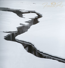 Stream in snow (femmaryann) Tags: stream snow meandering delta curves curvaceous cold weather outdoors landscape nature natural