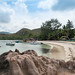 Strand auf der Insel Curieuse, Seychellen