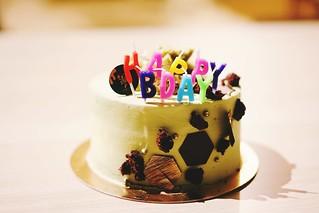 my bday cake. Green tea mocha lava