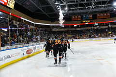 "Kansas City Mavericks vs. Toledo Walleye, January 21, 2018, Silverstein Eye Centers Arena, Independence, Missouri.  Photo: © John Howe / Howe Creative Photography, all rights reserved 2018. • <a style=""font-size:0.8em;"" href=""http://www.flickr.com/photos/134016632@N02/24969555197/"" target=""_blank"">View on Flickr</a>"