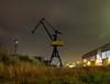 Old Shipyard Crane Rostock (Japhile) Tags: kran crane rostock werft shipyard night