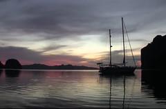 sunset off the beach (PanAmerican09) Tags: sunset beach sailing australlia seascape sailingboat sail sailboat sails sailor sky sea