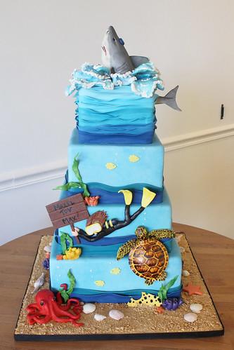 Aquarium Underwater Cake