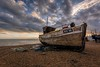 'Our Lady' RX16 (James Waghorn) Tags: sigma1020f456 hastings beach nikon d7100 topazclarity water sea pebbles boat net eastsussex winter clouds thestade england fishing decay