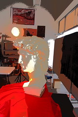 P2020143 (photos-by-sherm) Tags: michelangelo bust david replica cameron art museum wilmington nc pancoe center winter spotlight floodlights kissing