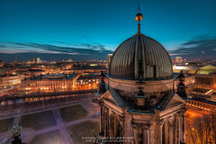 Cold Blue Hour - Berlin (Marcus Klepper) Tags: berlin berlinerdom blauestunde lustgarten city night bluehour potsdamerplatz clouds sky deutschland germany hauptstadt stadtlandschaft dumkuppel history berlinmitte museumsinsel stadtkern unterdenlinden nightphotography nikon nikond800 nikon1424