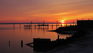 sunrise over the patuxent river