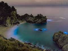 Bioluminescent Algae at Big Sur (Explore #7) (mikeSF_) Tags: california bigsur pfeiffer mcway falls waterfall night bioluminescent algae glow pentax 645z 645 wwwmikeoriacom