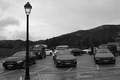 Ibiza street (LorenzoGiunchi) Tags: blackwhite rainy rain street car mercedes ibiza