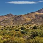 A Desert Landscape and Mountains Peaks thumbnail