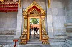 """Wat Benchamabophit (The Marble Temple) Bangkok Thailand-4 (Yasu Torigoe) Tags: watbenchamabophitdusitvanaramwhichmeans""""themonasteryo bangkok krungthepmahanakhon thailand th wat benchamabophit dusitvanaram which means """"the monastery fifth king near dusit palace"""" is buddhist temple district it known marble one bangkoks bestknown temples major tourist attraction typifies ornate style high gables with steppedout roofs elaborate finials construction began 1899 built italian the cloister around assembly hall houses 52 images buddha"""