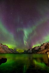 fjord view (John A.Hemmingsen) Tags: auroraborealis arcticlight aurora astronomy ersfjordbotn tromsø fujifilm fujinon sky snow winter mountains norway northernlights