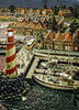 The lighthouse (glessew) Tags: lighthouse vuurtoren leuchtturm phare faro miniworld schaalmodel scale model rotterdam harbour port hafen haven nederland netherlands