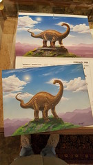 "PETE VON SHOLLY DINOSAUR CALENDARS (2) AND ORIGINAL ARTWORK FOR SAME.  $200. • <a style=""font-size:0.8em;"" href=""http://www.flickr.com/photos/51721355@N02/25755174678/"" target=""_blank"">View on Flickr</a>"