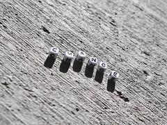 Change (Robert Cowlishaw (Mertonian)) Tags: shadows blackandwhite bw texture macro concretecanvas cement canvas concrete backyardphotolab bypl canonpowershotg1xmarkiii canon g1x markiii powershot change mertonian letters