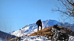 A resting place - (rotraud_71) Tags: salzburgerland motorcyclist mountains landscape motorcycle stkoloman austria winter