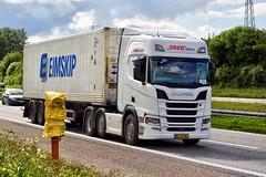 BL52067 (17.06.14, Motorvej 501, Viby J)DSC_2871_Balancer (Lav Ulv) Tags: trækker hauler semi tractorunit tractor zugmaschine sattelzug sattelschlepper auflieger trailer articulated artic scania scaniarseries rseries rsseries newgen scanianewgen 2017 r500 container eimskip demotruck stiholt jesperdlauritzen r7 euro6 6x2 truck truckphoto truckspotter traffic trafik verkehr cabover street road strasse vej commericialvehicles erhvervskøretøjer danmark denmark dänemark danishhauliers danskefirmaer danskevognmænd vehicle køretøj aarhus lkw lastbil lastvogn camion vehicule coe danemark danimarca lorry autocarra motorway autobahn motorvej vibyj highway hiway autostrada commercialvehicles