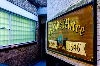Sign -  Ye Olde Mitre Pub (High Holborn - London) Fujifilm X100F & 28mm Wide Lens Converter (1 of 1)