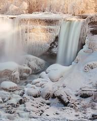 Niagara Falls (U.S. side) (Smaku) Tags: canada trees water creamy white longexposure frozen ice snow niagarafalls waterfall ontario