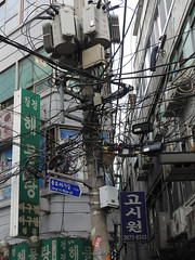 Electrical wires (lizbrisson) Tags: utilitypole wires seoul dongdaemun southkorea