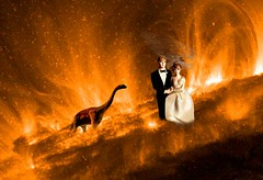 Bride & Groom on the Sun (Rusty Russ) Tags: bride groom dinosaur pet sun hot vacation colorful day digital window flickr country bright happy colour eos scenic america world sunset beach water sky red nature blue white tree green art light cloud park landscape summer city yellow people old new photoshop google bing yahoo stumbleupon getty national geographic creative composite manipulation hue pinterest blog twitter comons wiki pixel artistic topaz filter on1 sunshine image reddit