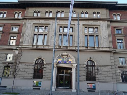Wien, 1. Bezirk, Museum für Angewandte Kunst, (Musée d'art appliqué, Museo de arte aplicado, Museo di arte applicata, Museum of applied art) - Stubenring/Weißkirchnerstraße