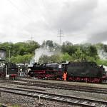 Dampflokomotive 41 1150-6 ex Deutsche Reichsbahn & 66 002 ex Deutsche Bundesbahn thumbnail