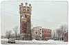 The Obukhov Plant Water tower. (g_reg_walker) Tags: travel excursion stroll tourism trip walk october oktyabrskaya embankment sky grey winter saint petersburg russia river neva city perspective view plant obukhov obukhovsky tower water