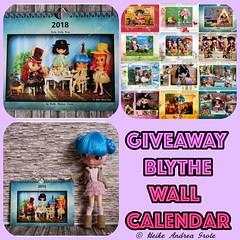Giveaway - Blythe Wall Calendar 2018