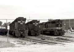 N&W and Southern SD45s at Decatur, IL (itcrrfan) Tags: southern nw ns illinois decatur locomotive yard sd45