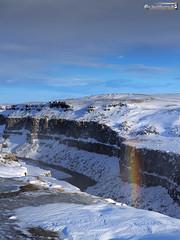 Rainbow in the Jökulsárgljúfur (dieLeuchtturms) Tags: schnee winter europa 3x4 island regenbogen jökulsááfjöllum canyon jökulsárgljúfur norðurlandeystra europe iceland nordurland rainbow snow is