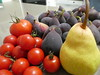 Today's harvest (Diepflingerbahn) Tags: todaysharvest pear tomato fig fruit produce food panasoniclumixdmctz80