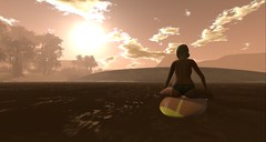 Sunset Wave (liloneladybug) Tags: catwa catya deetalez mixed maitreya art photography fashion screenshot slhairstyle pose mesh bento people 3d props fairhaven portrait secondlife beach surfing sunset