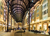 Hay's Galleria on the Thames, London, England (Aethelweard) Tags: london england unitedkingdom mall history old historic arches victorian shops night lit wharf thames beautifulplace longexposure