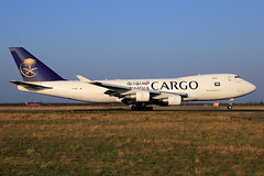 Saudi Arabian Cargo  Boeing 747-412(F/SCD) TC-MCT (widebodies) Tags: liege lüttich lgg eblg widebody widebodies plane aircraft flughafen airport flugzeug flugzeugbilder saudi arabian cargo boeing 747412fscd tcmct