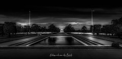 Normandy American Cemetery and Memorial (EBoss Fotografie) Tags: collevillesurmer cemetery normandy france sky clouds center blackwhite canon outdoors landscape roosevelt america worldwarii