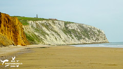 Yaverland Beach (SLHPhotography1990) Tags: 2017 april beach yaverland isleofwight isle wight cliff vibrant colour culver monument downs white cliffs chalk sand