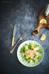 cod with peas and kohlrabi (Malgosia Osmykolorteczy.pl) Tags: fish cod peas green food foodphotography foodporn foodstyling foodstylist