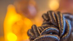 Fire lighting for a frozen Rope. (Renate Bomm) Tags: 7dwf hitze kontrast macroorcloseup renatebomm samyangaf35mmf28 sonyilce6000 tau auftauen cold complementär feuer golden heat lighting macro homonym lightopia smileonsaturday lettherebelight rope dew iluminación light yellow gold gelb