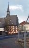 Happy Friday Fences: Blick vom Zaun auf die Musikschule (magritknapp) Tags: zaun musikschule haus strase auto steine himmel wolken butzbachimwetteraukreislandhessen hff