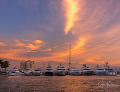 Florida Life: Yachtsea (Thūncher Photography) Tags: fujifilm fuji gfx50s fujigfx50s gf3264mmf4rlmwr mf mediumformat scenic landscape waterscape nature outdoors sky clouds colors reflections sunrise yachts boats luxury millionaires westpalmbeach palmbeachyachtclub southeastflorida florida